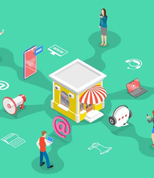 Animación comercio electrónico y digital