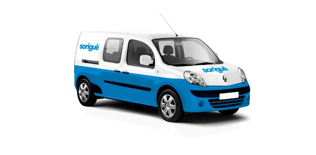 furgoneta sorigue azul