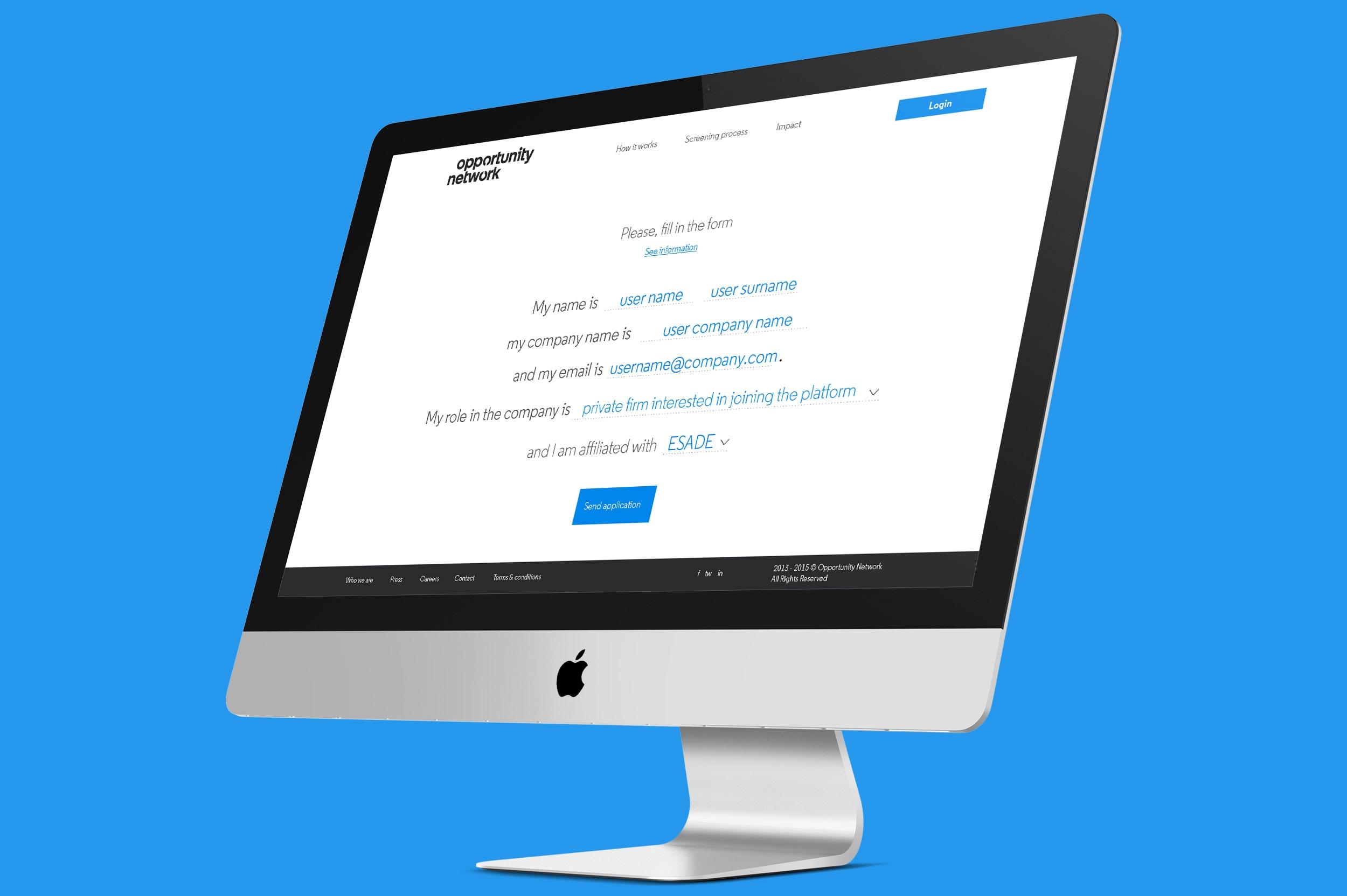opportunity network web desktop
