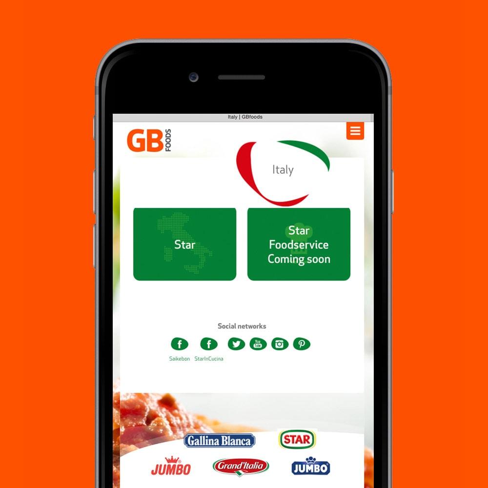 Web GB Foods mobil