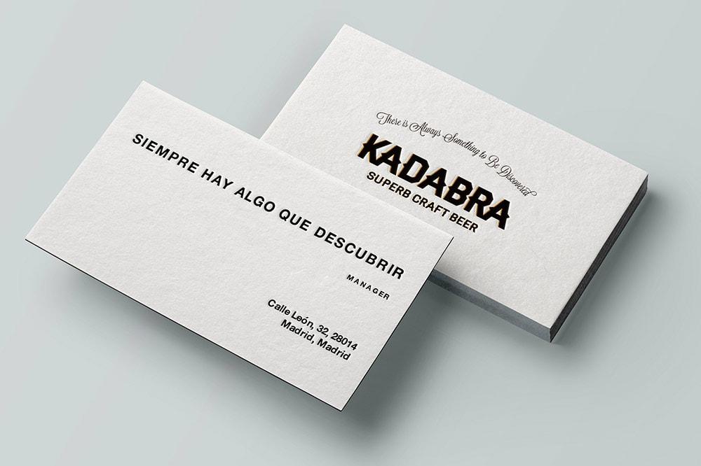 diseño tarjetas kadabra